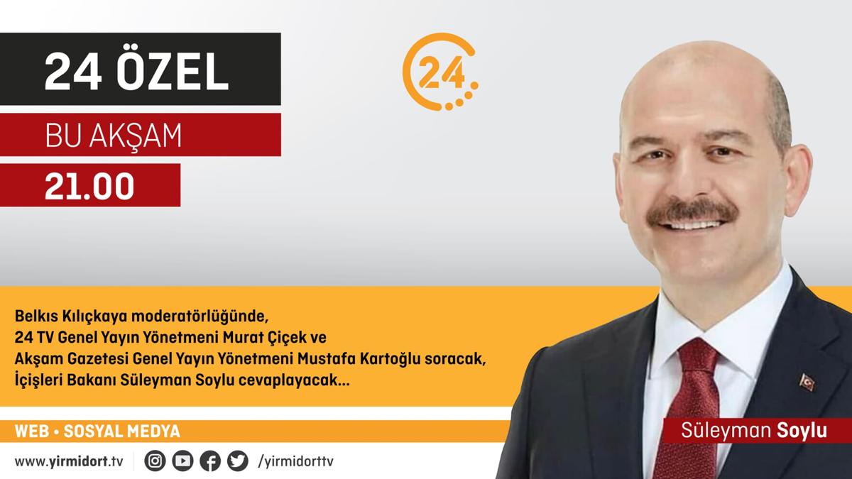 """""""Bakan Soylu 24 TV'ye Konuk Oluyor."""""""