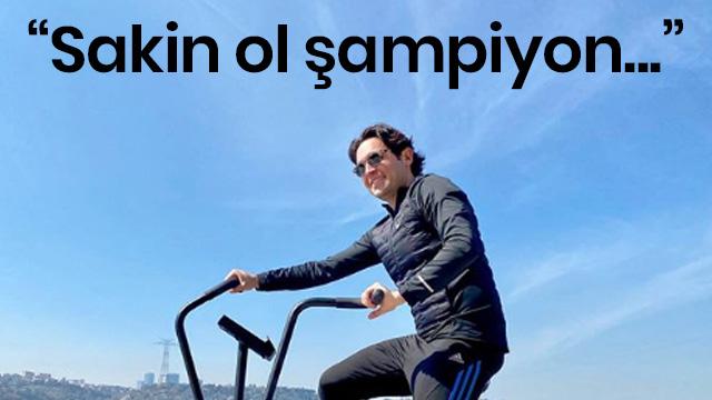 Hacı Sabancı, açık havada spor yapmasına tepki gösteren takipçisine yanıt verdi: Sakin ol şampiyon, evdeyim