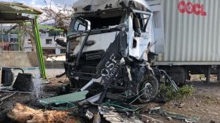 İskenderun'da korkutan kaza