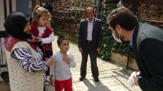 Çocukların imdadına belediye başkanı yetişti