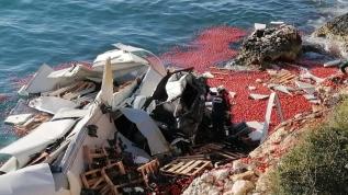 Mersin'de TIR denize uçtu