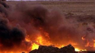 Petrol boru hattında yangın çıktı