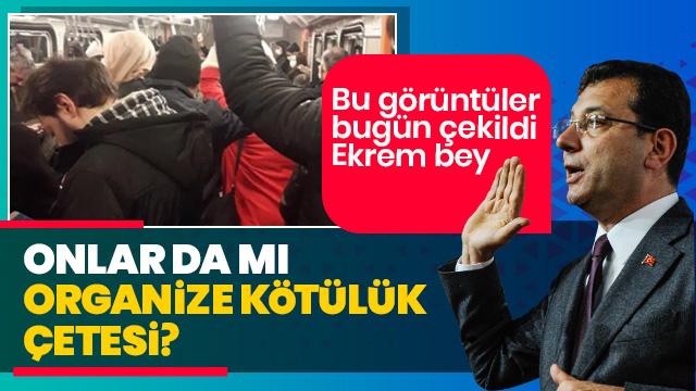 Bu görüntü bugün İstanbul'da çekildi! Onlar da mı 'organize kötülük çetesi' Sayın Ekrem İmamoğlu