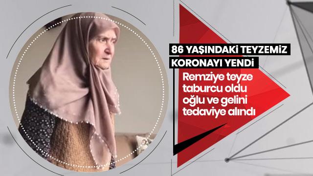 Sakarya'da 86 yaşındaki yaşlı kadın koronavirüsü yendi