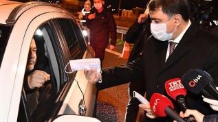 Ankara Valisi Şahin, şehir girişlerindeki kontrol noktalarını inceledi