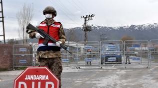 Karantinadaki yerleşim yerlerinde güvenlik önlemleri sürüyor