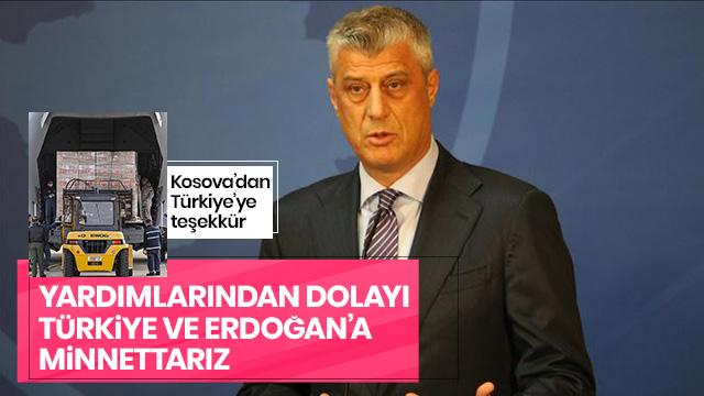 Kosova'dan Türkiye'ye teşekkür