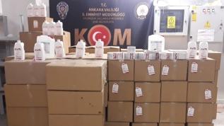 Başkent'te kaçak dezenfektan operasyonu