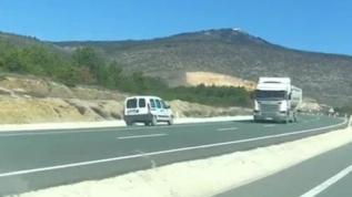 Ters yönde giden sürücüye bin 228 lira ceza kesildi
