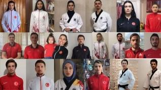 Tekvando Milli Takımı sporcularından hazırladıkları videoyla 'Evde kal' çağrısı