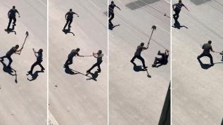 Ambulansa taş atıp, Polise kürekle saldırdı