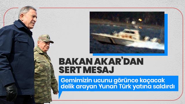 Gemilerimizin ucunu görünce kaçacak delik arayan Yunan savunmasız Türk yatına saldırdı