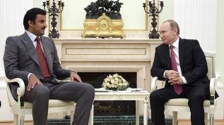 Putin, Katar Emiri ile görüştü