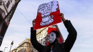Arjantin'de kuryelerden karantinaya rağmen protesto