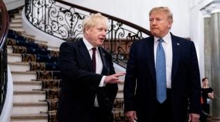 Johnson ve Trump Kovid-19 aşısını görüştü