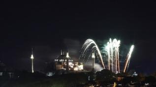Ayasofya'da, İstanbul'un fethi canlandırıldı