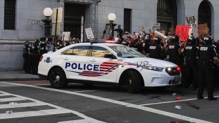 ABD'deki gösteriler nedeniyle başkent Washington'da sokağa çıkma yasağı ilan edildi