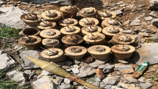 Terör örgütüne sınır ötesinde ağır darbe! Kuzey Irak'ta PKK'ya ait mühimmatlar ele geçirildi
