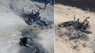 Sivillerin olduğu bölgeye bomba yüklü motosikletiyle sızmaya çalışan PKK/YPG'li terörist ele ele geçirildi