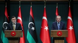 Başkan Erdoğan ve Libya Başbakanı Sarrac'tan basın toplantısı