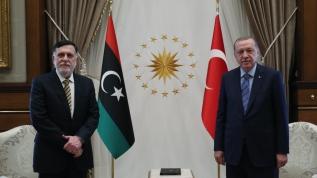 Ankara'da kritik zirve! Başkan Erdoğan Libya UMH Başkanı Serrac'ı kabul etti